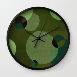 """""""Retro Green Super Dots"""" Wall Clock"""