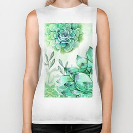 Irish Mint Garden Biker Tank