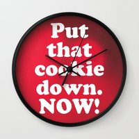 cookie Wall Clocks featuring cookie by MelleNora