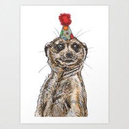 Meerkat Party Art Print