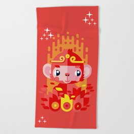 Fire Monkey Year Beach Towel