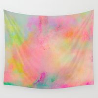 watercolour Wall Tapestries featuring Sunshine by Georgiana Paraschiv