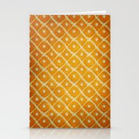 yellow pattern Stationery Cards featuring Yellow Pattern by Thomas Bryant