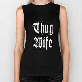 Womens Thug Wife  Funny Novelty T-Shirt Biker Tank