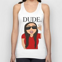 the dude Tank Tops featuring DUDE. by Citizen Pulp