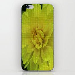 Bright Yellow Dahlia Abstract iPhone Skin