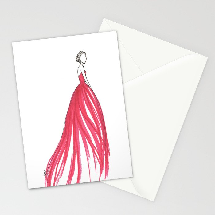 Crimson Stationery Cards