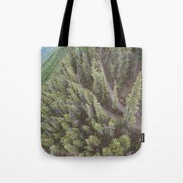 Forest Landscape Photography | Ariel View | Banff Gondola | Alberta | Canada Tote Bag