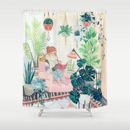 Urban garden apt Shower Curtain