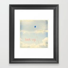 Look Up. Framed Art Print