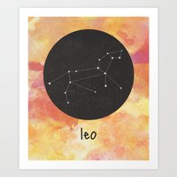 leo Art Prints featuring Leo by snaticky