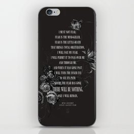 Bene Gesserit Litany Against Fear iPhone Skin