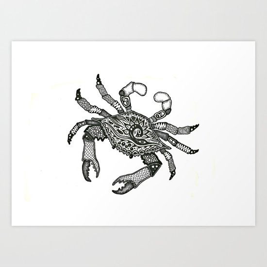 Crab Three Art Print