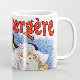 Jules Cheret Folies-Bergere Le Miroir 1896 Coffee Mug