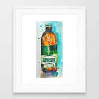 ale giorgini Framed Art Prints featuring Genesee Cream Ale by Dorrie Rifkin Watercolors