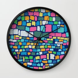 Preppy Painted Patchwork Wall Clock