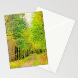 Scottish forest watercolor painting #10 Stationery Cards