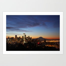 Seattle Sunrise Art Print
