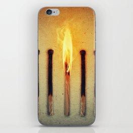 match burning alone iPhone Skin