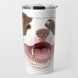 White/Brown Pitbull Travel Mug