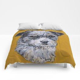 Terrier Mix Dog Portrait Comforters