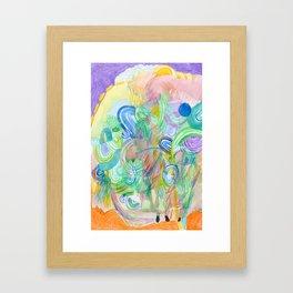 Hazy thinking Framed Art Print
