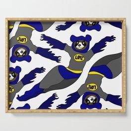 Flying LOVE Bear Bat Serving Tray