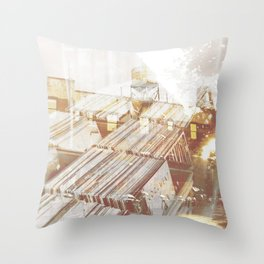 Back to the Crates Throw Pillow