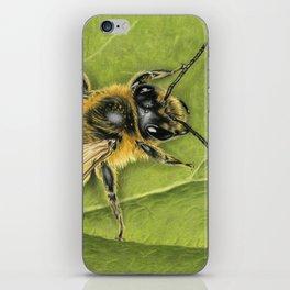 Honeybee On Leaf iPhone Skin