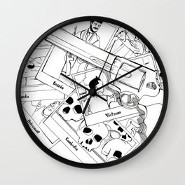 Murderous humanity Wall Clock