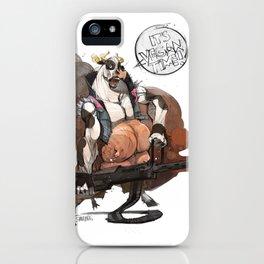 Crazy cow iPhone Case