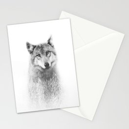 The Wolf and the Forest Stationery Cards
