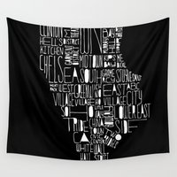 manhattan Wall Tapestries featuring Manhattan by Robert Farkas