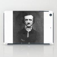edgar allan poe iPad Cases featuring Edgar Allan Poe Portrait  by All Surfaces Design