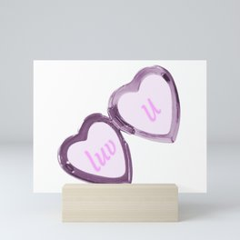 luv u Mini Art Print