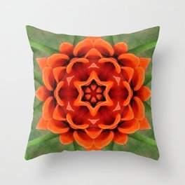 Booming Bloom Print Throw Pillow