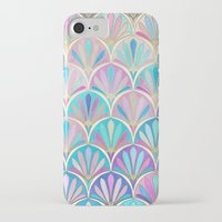 deco iPhone & iPod Cases featuring Glamorous Twenties Art Deco Pastel Pattern by micklyn