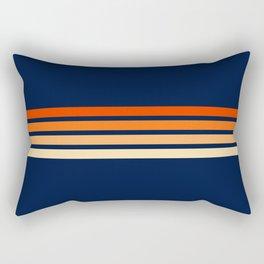 Minimal Orange Abstract Retro Racing Stripes 70s Style - Bluesane Rectangular Pillow