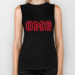 "OMG Initialism of ""oh my God"" Biker Tank"