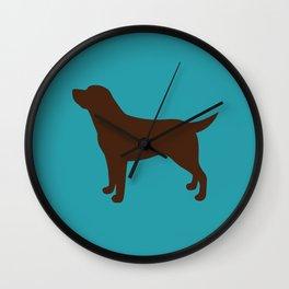 Labrador Retriever, Lab (Teal/Chocolate) Wall Clock
