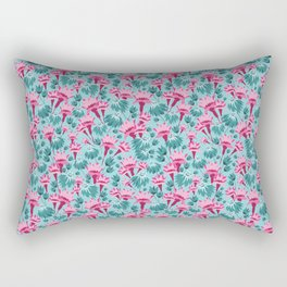 Pink & Teal Lovely Floral Rectangular Pillow