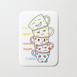 morning coffee moods Bath Mat