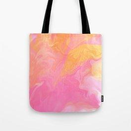 MAGNOLIA bubblegum pink and tangerine orange watercolour Tote Bag