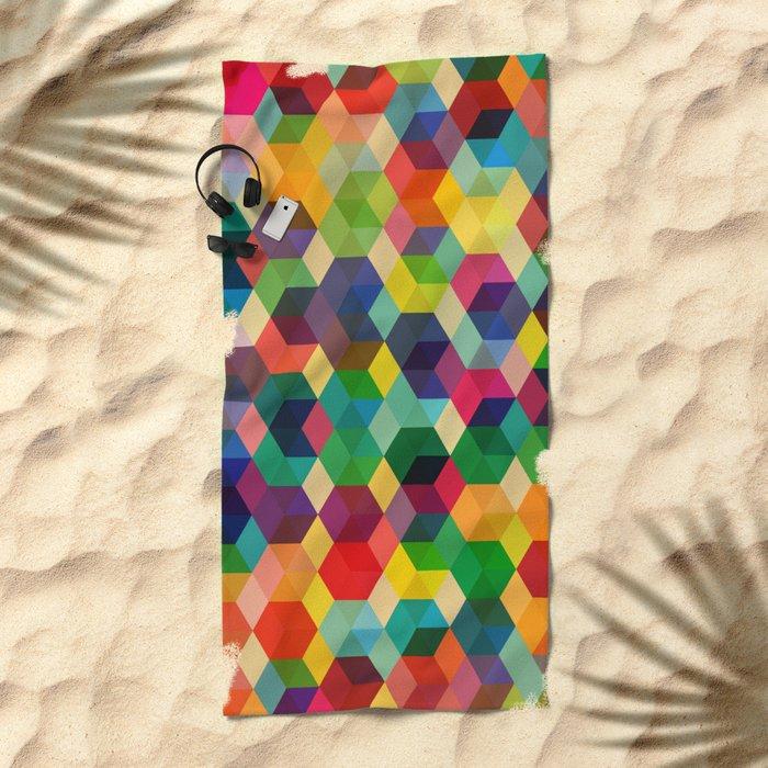 Hexagonzo Beach Towel