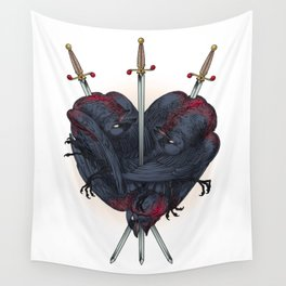 Three Of Swords Wall Tapestry