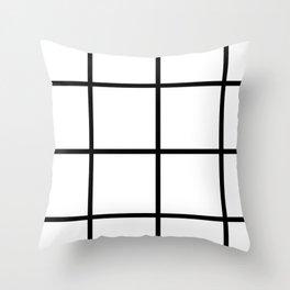 Big Grid Line Windowpane Pattern Modern Home Decor Art Design Throw Pillow
