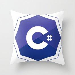 c# developers logo dot net Throw Pillow