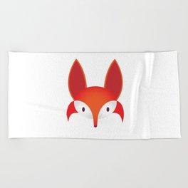 The Red Fox Beach Towel