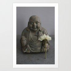 Buddha of the Flowers Art Print