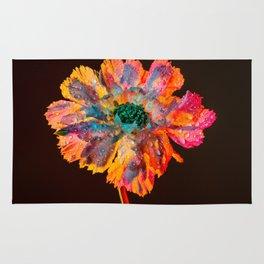 Psychedelic Floral Dew Rug